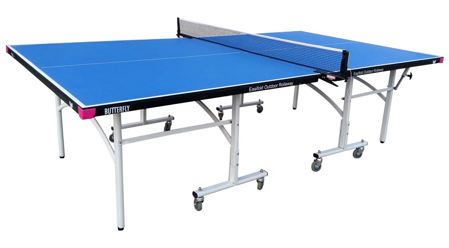 Butterfly Easifold Outdoor Blue Table Tennis Table