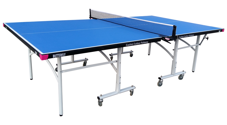 Butterfly easifold outdoor blue table tennis table tw26b for Table tennis 99