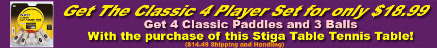 Stiga Classic 4 Player Set