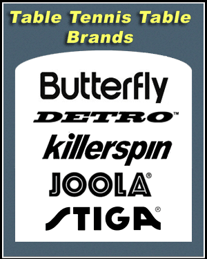 table tennis brands
